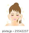 エステ、お手入れ、化粧水、しっとり、リラクゼーション、きらきら、スキンケア、若い、女性、可愛い 25542237