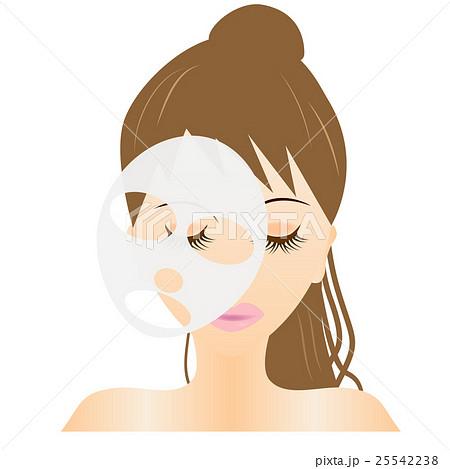 フェイスマスク、エステ、スキンケア、シートマスク、パック、若い、女性、可愛い 25542238
