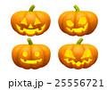 ハロウィンカボチャ 4種類 (背景透明PNG) 25556721