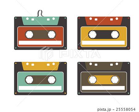 カセットテープのイラスト素材 25558054 Pixta