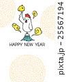 鶏 酉年 年賀状のイラスト 25567194