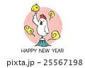 鶏 酉年 年賀状のイラスト 25567198