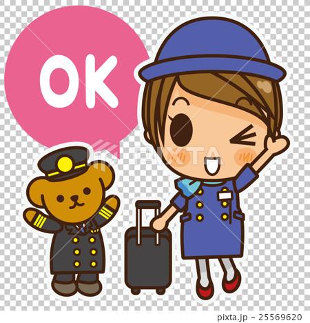 オンナノコ 客室乗務員 OK 25569620