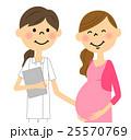 妊婦 女性 人物のイラスト 25570769