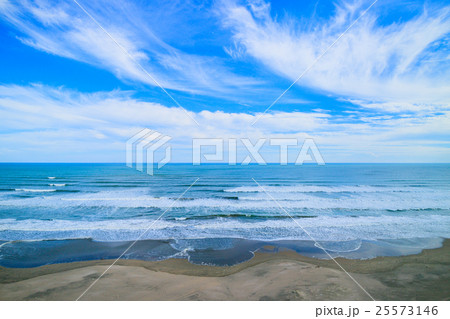 海 波 離岸流 九十九里浜 木戸浜海水浴場周辺を空撮 25573146