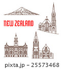 Travel landmarks of New Zealand thin line icon 25573468