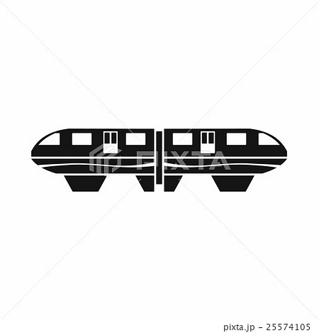 Monorail train icon, simple style 25574105