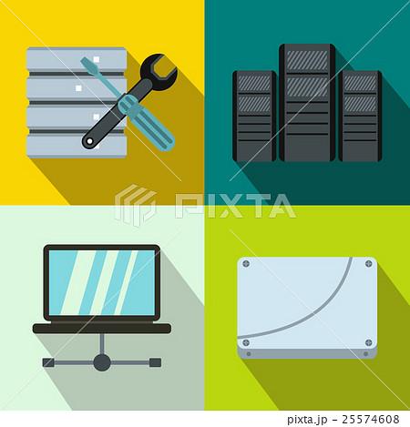 Database banners set, flat styleのイラスト素材 [25574608] - PIXTA