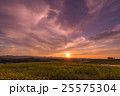 北海道 美瑛 夕日の写真 25575304