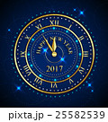 2017 Happy New Year background with gold clock for 25582539