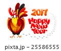 おんどり 酉 雄鶏のイラスト 25586555