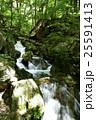 塩原渓谷 滝 流れの写真 25591413