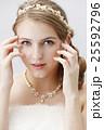 ブライダルビューティーショット 白人女性 ナチュラルメイク 25592796