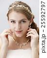 ブライダルビューティーショット 白人女性 ナチュラルメイク 25592797