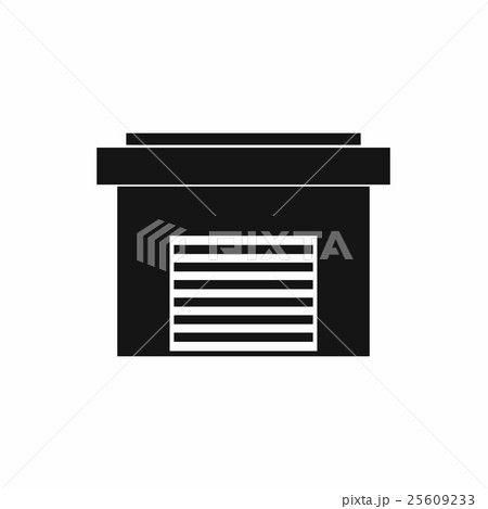 Garage icon, simple styleのイラスト素材 [25609233] - PIXTA