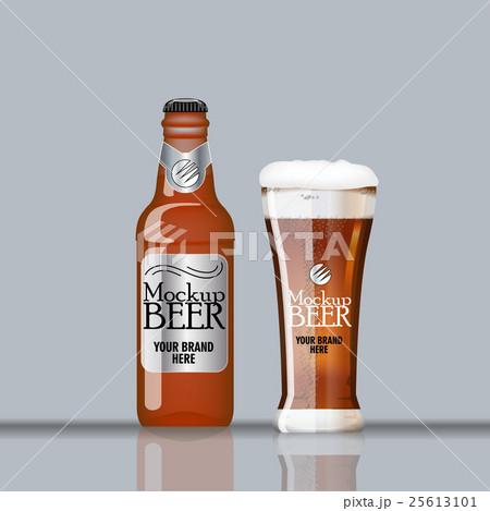 Digital vector glass of dark brown beerのイラスト素材 [25613101] - PIXTA