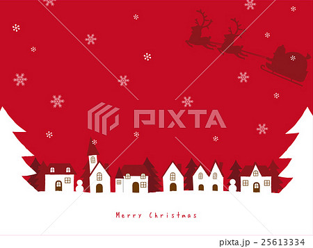 クリスマス 街並み 背景イラストのイラスト素材 25613334 Pixta