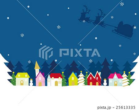 クリスマス 街並み 背景イラストのイラスト素材 25613335 Pixta