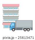 マンションとトラック 25613471