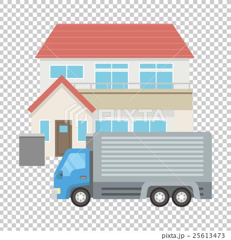 トラックと家 25613473