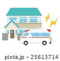 家と救急車 25613714