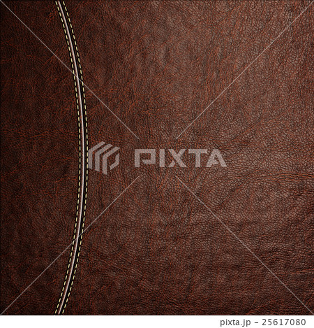 Texture of brown leather background with stitched 25617080