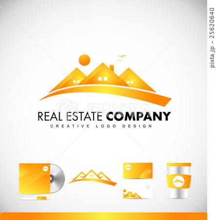 Real estate yellow house logo icon designのイラスト素材 [25620640] - PIXTA