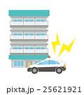 マンションとパトカー 25621921