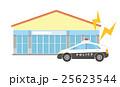 パトカーとお店 25623544