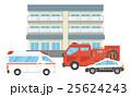 マンション 救急車 消防車 パトカー 25624243