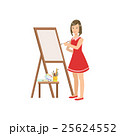 Woman Painter In Red Dress, Creative Person 25624552