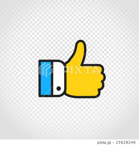 Hand vector icon on transparent backgroundのイラスト素材 [25628249] - PIXTA