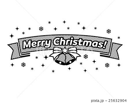 メリークリスマス モノクロのイラスト素材 25632904 Pixta