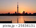 夕日と東京スカイツリー 25636131