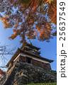 秋の丸岡城の天守の風景 25637549