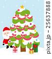 クリスマスツリー サンタクロース サンタのイラスト 25637888