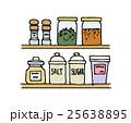 スパイス 調味料 棚のイラスト 25638895