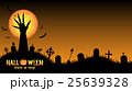 Halloween background with demon hand in graveyard 25639328