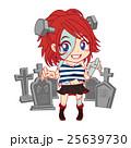 ハロウィン_フランケンシュタイン女の子キャラ&墓地 25639730