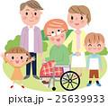 三世代ファミリー 車椅子  25639933
