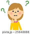 女の子 悩む 疑問のイラスト 25648888