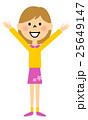 女の子 成功 喜ぶのイラスト 25649147