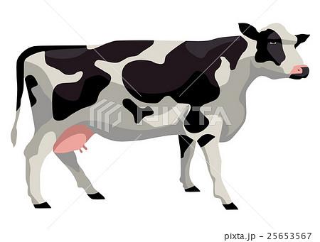 乳牛のイラスト素材 25653567 Pixta