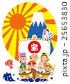 宝船 七福神 富士山のイラスト 25653830