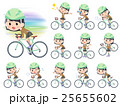 女性 学生 自転車のイラスト 25655602