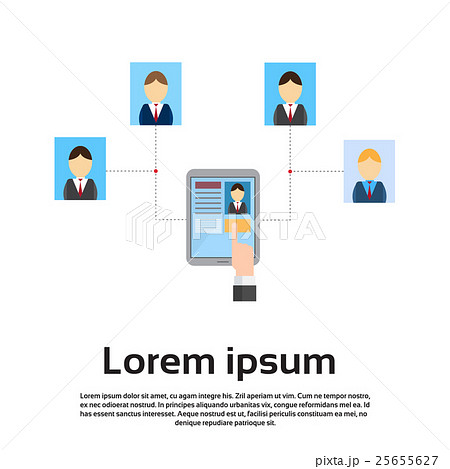 curriculum vitae on tablet computer recruitmentのイラスト素材