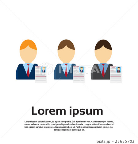 curriculum vitae recruitment candidate jobのイラスト素材 25655702