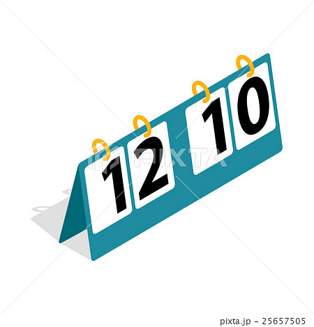 Tennis score board icon, isometric 3d styleのイラスト素材 [25657505] - PIXTA