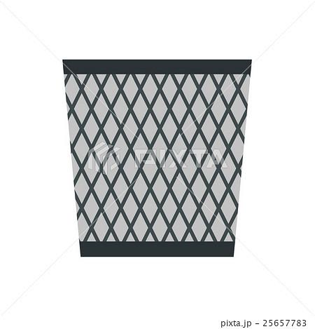 Wastepaper basket icon, flat styleのイラスト素材 [25657783] - PIXTA