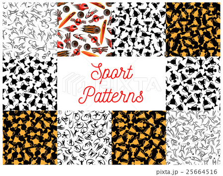 Sport seamless pattern set for sporting designのイラスト素材 [25664516] - PIXTA